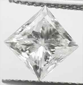 Picture of 1.61 Carats, Princess Diamond with Ideal Cut , E SI1, Certified By IGL