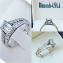 Picture of Split band engagement ring for all diamonds