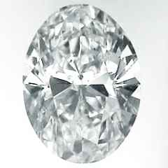 Picture of 0.9 Carats, Oval Diamond with Very Good Cut, F Color, SI1 Clarity and Certified By EGL