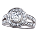 Picture of Engagement ring settings, split band with diamonds
