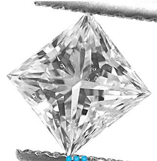 Picture of 0.71 Carats, Princess Diamond with Very-Good Cut, E Color, SI1 Clarity and Certified By EGL