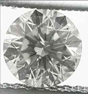 Picture of 0.63 Carats, Round Diamond with Ideal Cut,  K, SI1 Clarity and Certified By IGL