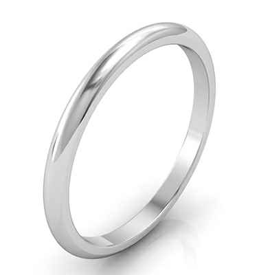 Delicate wedding band 1.90mm width
