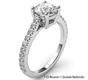 Picture of The new Classic style basket engagement ring with side diamonds