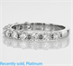 Picture of 3/4 carat 11 diamonds 4 prongs set wedding band