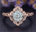 Picture of Low profile Art deco replica Halo engagement ring`for Rounds Cushions and Princess diamonds