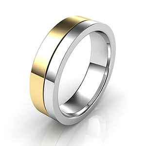 Comfort fit wedding band 5.5mm wide