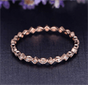 Picture of Stackable eternity scalloped diamonds band