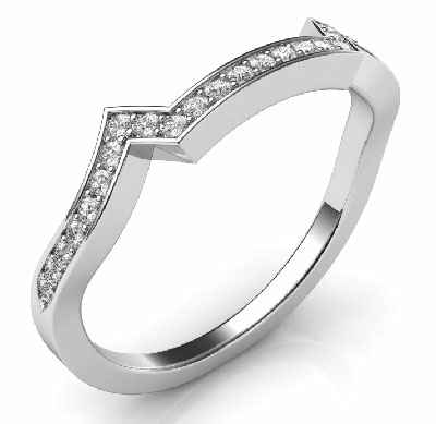 Matching wedding band with 0.18ctw sides for Bowtie engagement ring