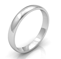 Picture of 3mm low dome wedding band, comfort fit