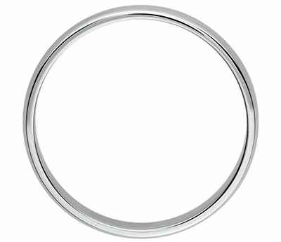 3mm low dome wedding band, comfort fit
