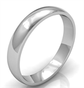 Picture of 4mm low dome wedding band, comfort fit