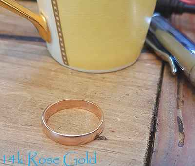 4mm low dome wedding band, comfort fit