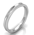 Picture of 2.5 to 3 mm comfort fit wedding band, California trails