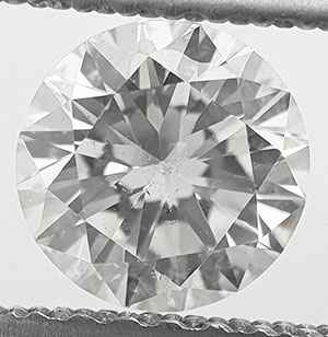 Picture of 0.74 Round natural diamond E VS2 C.E Ideal cut,certified by CGL