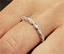 Picture of Scalloped diamonds wedding band