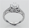 Picture of Vintage engagement ring replica hand engraved