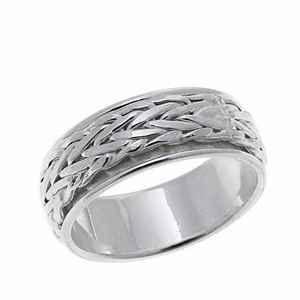 wide ring with wheat motif all around