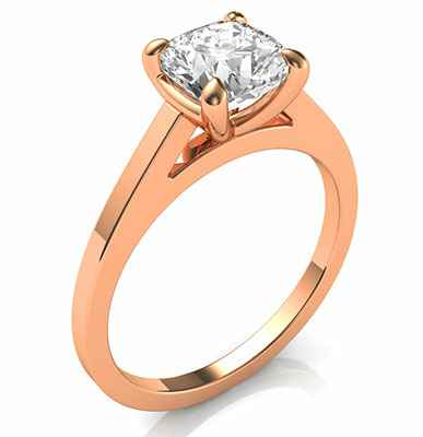 Delicate solitaire engagement ring for Rounds Cushions and Princess diamonds