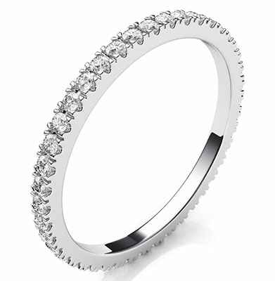 Eternity diamonds wedding or anniversary band