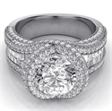 Picture of Round and Baguettes custom ring for 2 carat center