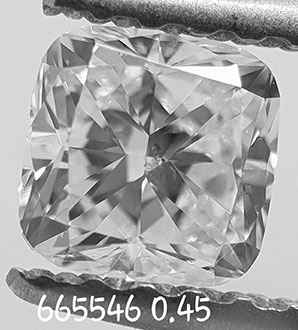 Picture of 0.45 Carats, Cushion Diamond with Very Good Cut E SI1 and Certified By EGL