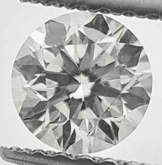 Picture of 0.52 Carats, Round Diamond with Very Ideal Cut , I color, VS2 Clarity  Enhanced and Certified by IGL