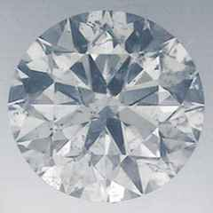 Picture of 0.66 carat, round Diamond with Ideal Cut, H color  SI1 clarity, certified by IGL