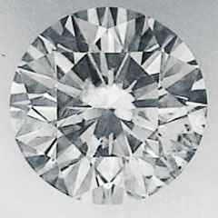 Picture of 0.51 Carats, Round Diamond with Ideal Cut, I color, SI1 Clarity  Enhanced and Certified by IGL