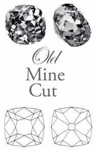 Old mine cut diamonds, pictures and facets plots