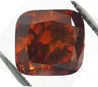 Natural color Cushion diamond Orange Brown color.