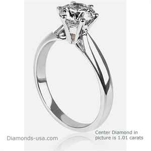 High profile engagement ring sample, the Martini set