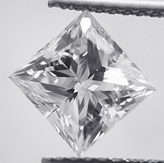 Picture of 1.65 Carats, Princess Diamond with D VVS2 and Certified By CGL