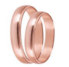 Rose gold wedding bands for him and her