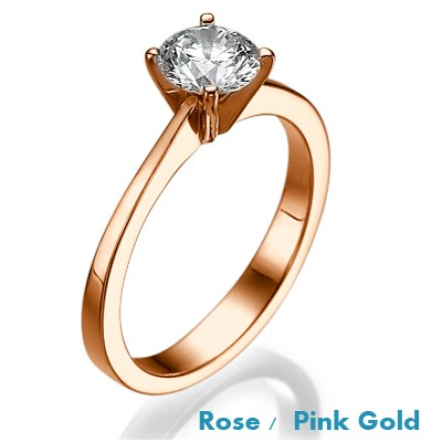 The Beauty, Solitaire  Rose Gold engagement ring