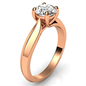 Picture of The new Criss Cross Solitaire Rose Gold engagement ring