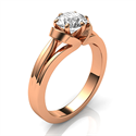 Picture of The nest solitaire vintage Rose Gold engagement ring