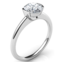 Picture of Low profile half bezel delicate engagement ring-Miranda