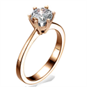 Picture of  Rose Gold New  Martini prongs head diamond engagement ring