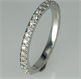 Picture of matching wedding band 36 round diamonds, 0.40 carat, 2.3 mm width.