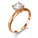 Picture of  Rose Gold Tiffany style solitaire engagement ring