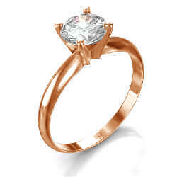 Rose Gold Tiffany style solitaire engagement ring