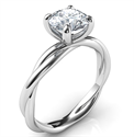 Picture of Crystal, the rope solitaire engagement ring for all shapes