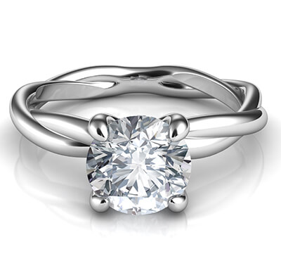 Crystal, the rope solitaire engagement ring for all shapes