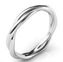 Picture of Crystal- the rope wedding band