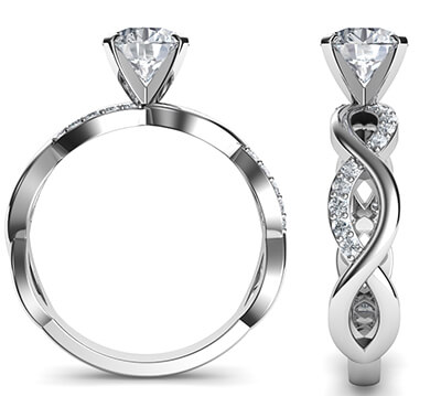 Infinity engagement ring for all shapes and sizes