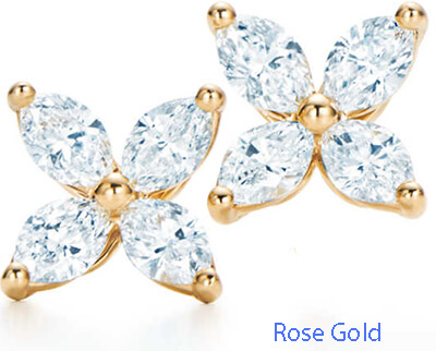 Marquise butterfly earrings 1.20 carats
