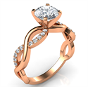Picture of Rose Gold Infinity engagement ring for all shapes and sizes