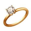 Picture of Rose gold 2mm Solid tube solitaire engagement ring