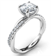 Picture of Crystal- the rope engagement ring with side diamonds, for all shapes